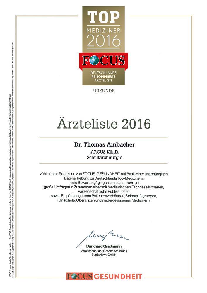 FOCUS Ärzteliste 2016